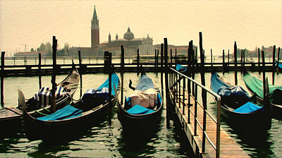 Poster featuring the photograph Beautiful Day In Venice by Brian Reaves
