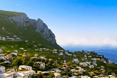 Beautiful Day On The Isle Of Capri Poster by Mark E Tisdale