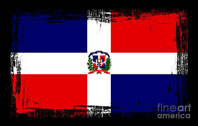 Beautiful Dominican Republic Flag Poster