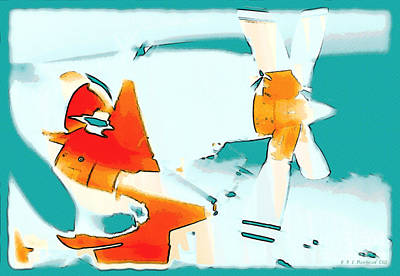 Fixed Wing Aircraft Pop Art Poster by R Muirhead Art