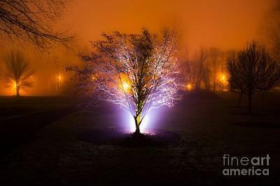 Beautiful Foggy Night 2 Poster by Michael Cross