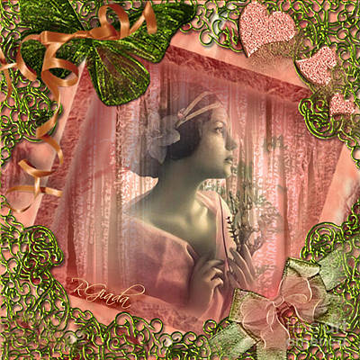 Poster featuring the digital art Beautiful Fragility - Vintage Scrap Art By Giada Rossi by Giada Rossi