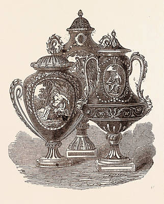 Beautiful Group Of Sevres Vases Poster