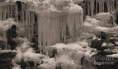 Beautiful Ice Poster by R McLellan