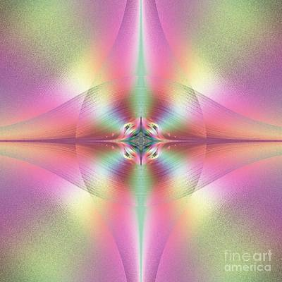 Beautiful Loving And Merciful Eyes Of God Fractal Poster