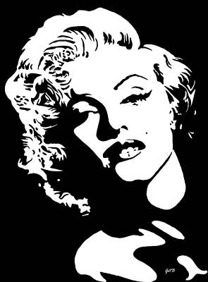Poster featuring the painting Beautiful Marilyn Monroe Original Acrylic Painting by Georgeta  Blanaru