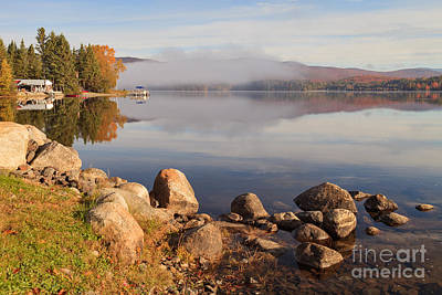 Beautiful Morning On Island Pond Poster by Charles Kozierok