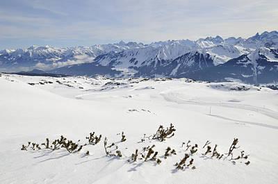 Beautiful Mountain Landscape In Winter Poster