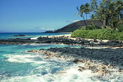 Beautiful Paako Beach Makena Maui Hawaii Poster by Sharon Mau