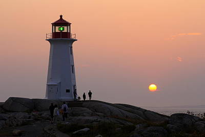 Beautiful Peggy's Cove Lighthouse Sunset Poster