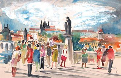 Beautiful Prague Poster by Miki De Goodaboom