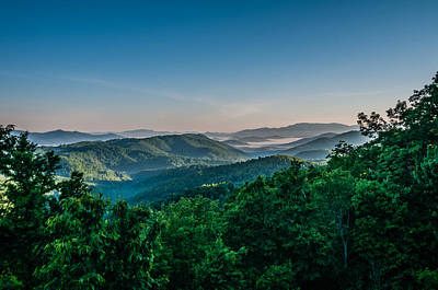 Beautiful Scenery From Crowders Mountain In North Carolina Poster