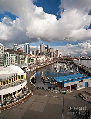 Beautiful Seattle Sky Poster by Mike Reid