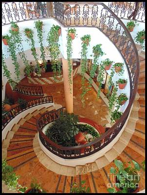 Beautiful Spiral Stairs Poster