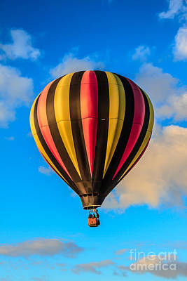 Beautiful Stripped Balloon Poster by Robert Bales