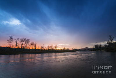 Beautiful Sunset Over Boise River In Boise Idaho Poster by Vishwanath Bhat