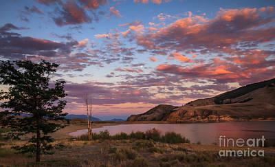 Beautiful Sunset Over Mackay Reservoir Poster by Robert Bales