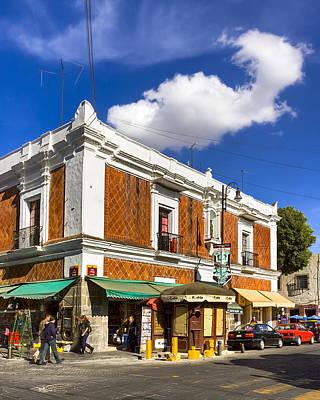 Beautiful Tile Facade In Puebla Poster