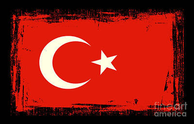 Beautiful Turkey Flag Poster