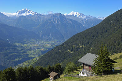 Beautiful View From Riederalp - Swiss Alps Poster