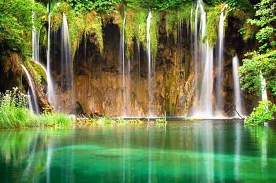 Waterfall Lagoon - Nature Photography Poster