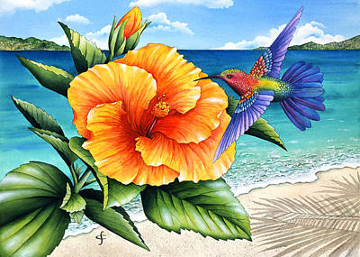 Beauty And Beach Poster by Carolyn Steele