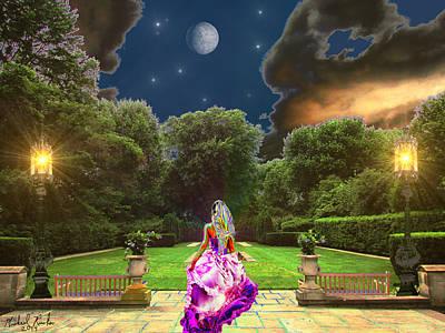 Beauty In The Garden Poster by Michael Rucker
