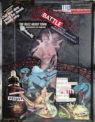 Poster featuring the painting Beauty Inside Not A Bottle by Lisa Piper