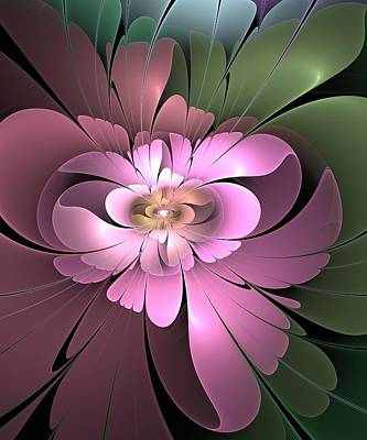 Poster featuring the digital art Beauty Queen Of Flowers by Svetlana Nikolova