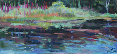 Poster featuring the painting Beaver Pond by Linda Novick