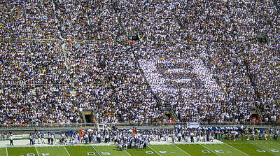Beaver Stadium S Zone Poster by William Ames