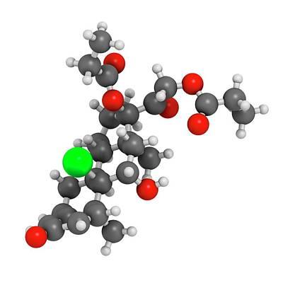 Beclometasone Dipropionate Steroid Drug Poster by Molekuul