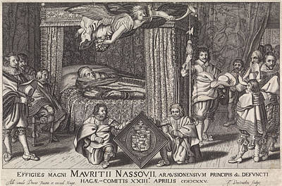 Bed Of Prince Maurits, 1625 Poster by Jan Hendriksz. Verstraelen And Adriaen Pietersz. Van De Venne