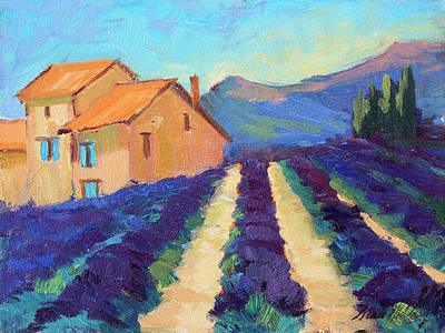 Bedoin - Provence Lavender Poster by Diane McClary