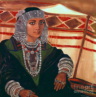 Bedouin Woman Bride  Girl Poster by Jean Marie Bowcott
