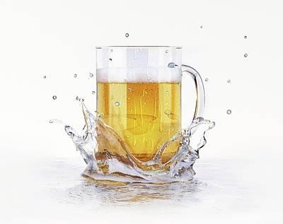 Beer Glass Poster by Leonello Calvetti