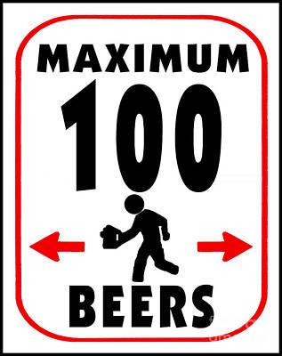 Beer Tasting Poster by Daryl Macintyre