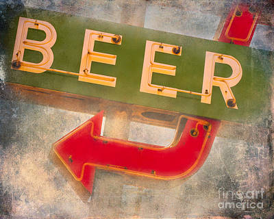 Beer This Way Poster by Sonja Quintero