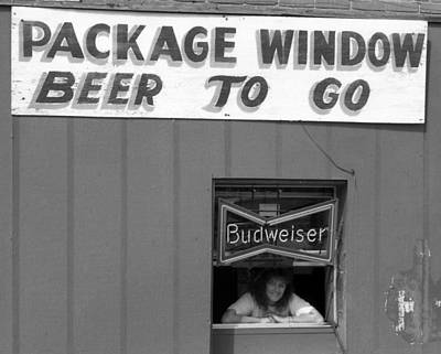 Beer To Go In Black And White Poster