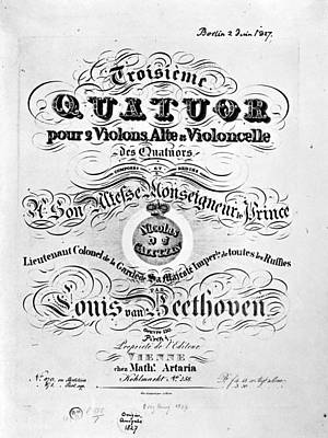 Beethoven Quartet, 1827 Poster by Granger