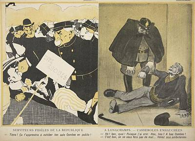 Before Protesting In The Street, After Poster by Francisco Sancha y Lengo