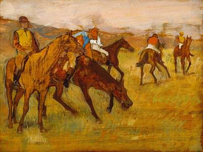 Before The Race Poster by Edgar Degas