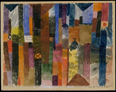 Paul Klee-The Town-Poster