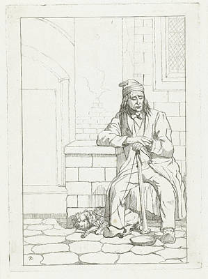 Beggar With Dog, Karel Frederik Bombled Poster by Karel Frederik Bombled