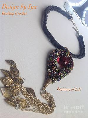 Poster featuring the jewelry Begining Of Life by Iya Carson