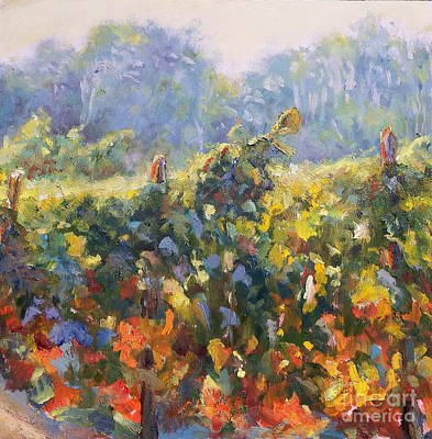Beginning Of Fall-wine Country Poster by Bonnie Seyford