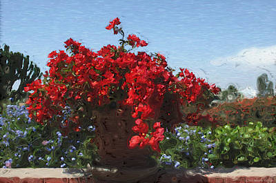 Begonias On The Patio Poster