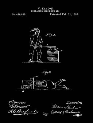 Beheading Ax Patent Poster