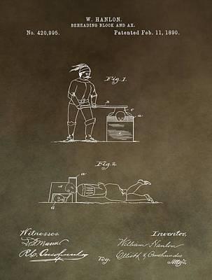 Beheading Block Patent Poster