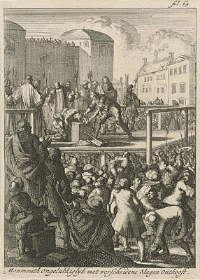 Beheading Of The Duke Of Monmouth, 1685, Jan Luyken Poster by Jan Luyken And Jan Claesz Ten Hoorn